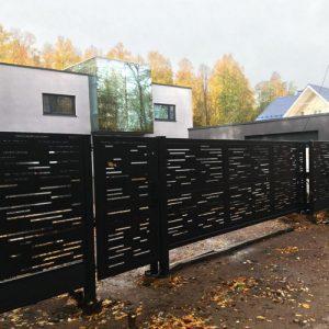 Ворота и заборы лофт