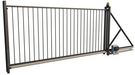 Ворота откатные ЭК01 с автоматикой