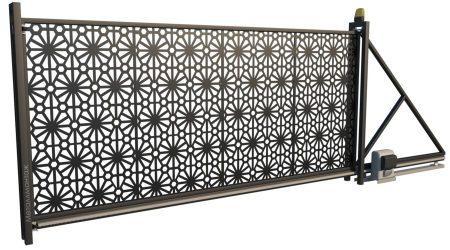 Ворота откатные лофт LF03 с автоматикой