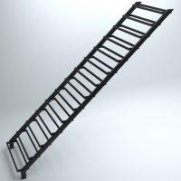 Закрытый каркас, прямая лестница